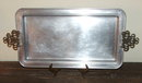 Pfaltzgraff  Aluminum and Brass Serving Tray