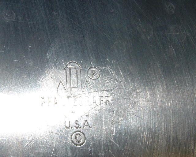 Pfaltzgraff  Aluminum and Brass Serving Tray