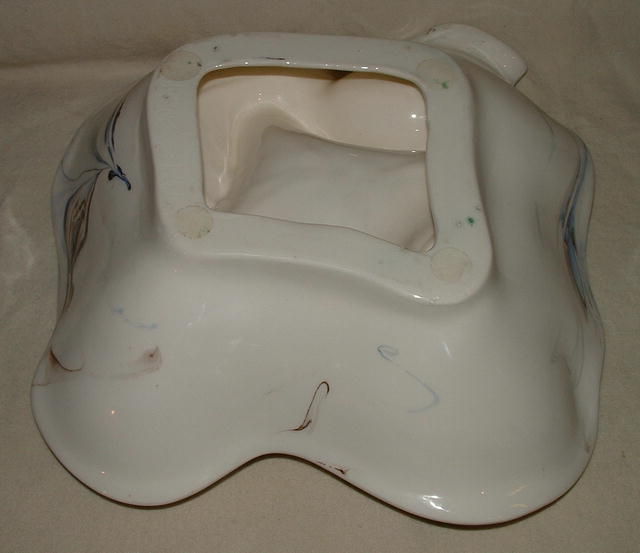 1979 Signed White/Blue/Brown  Ceramic Ashtray