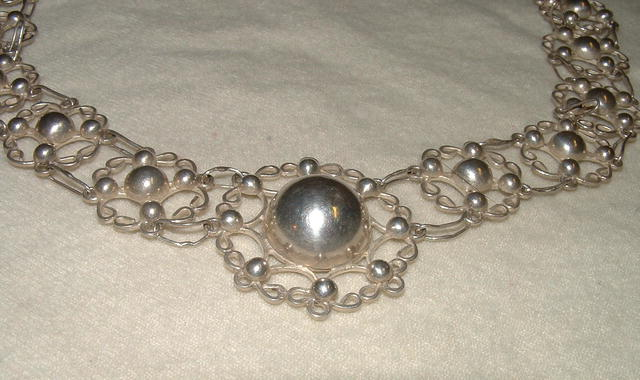 Signed Taxco 960 Silver Artisan Necklace