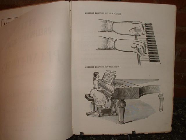 Antique Beyer's English & German Piano-Forte Book