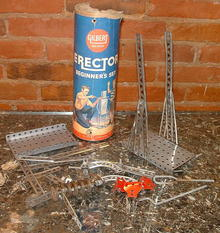 Gilbert Erector Beginner's Set Assorted Pieces 1950's