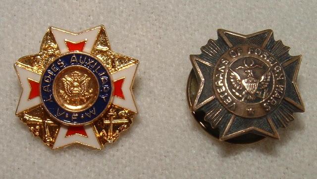 Vintage Men's and Ladies VFW Pins