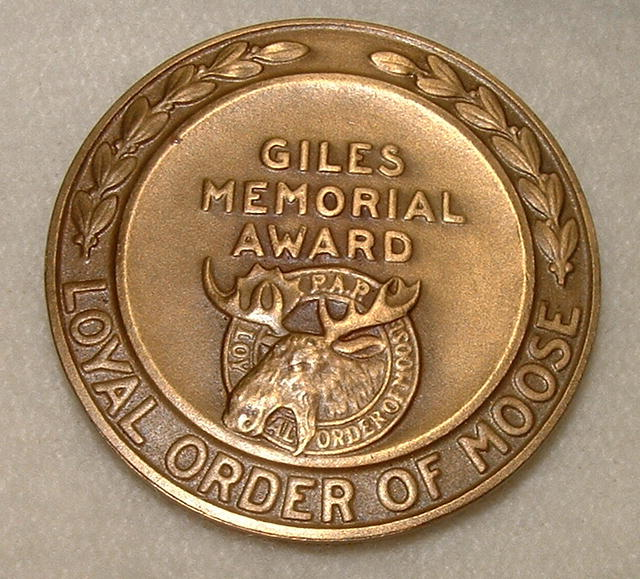 Vintage Order of Moose Giles Memorial Award