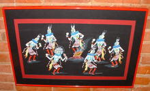 Original  Tsinajinnie Navajo Dance Painting