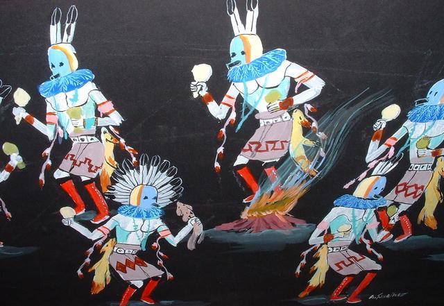 Original  Tsinajinnie Navajo Dance Painting