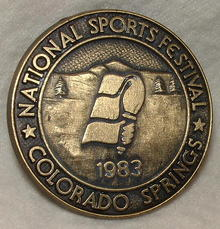 1983 Bronze National Sports Festival Medallion - Colorado Springs