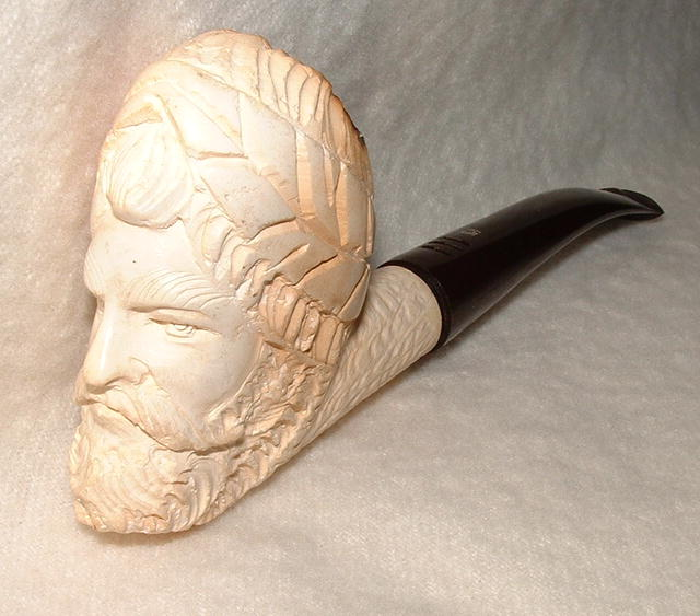 Vintage Meerschaum Pipe - Hand-Carved Turkish Head