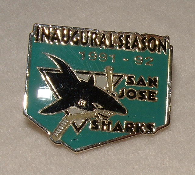 1991-92 San Jose Sharks Inaugural Season Lapel Pin