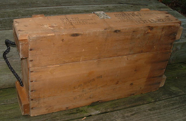 Viet Nam Era Cannon Ammunition Wooden Box