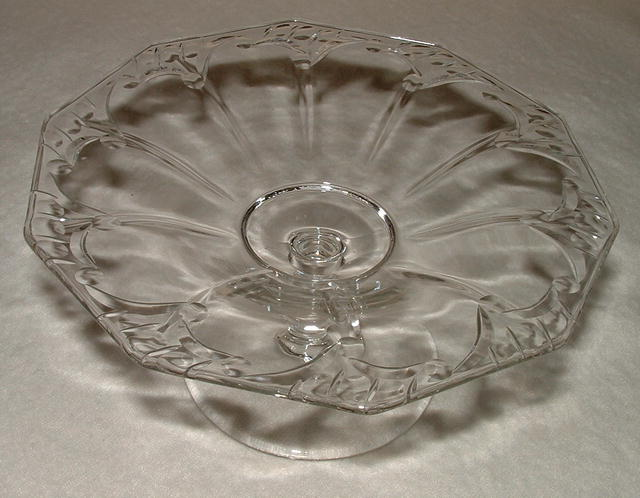 Antique Cut Glass  6 Inch Compote