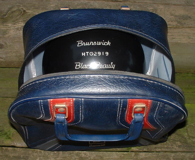 Vintage 1983 Brunswick Black Beauty Bowling Ball, Undrilled, Like New
