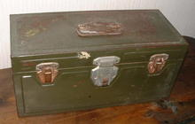 Antique Union Steel Fishing Tackle Box, Circa 1930