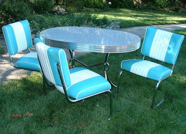 Vintage Turquoise U0026 White Daystrom Retro Dinette Table U0026 Chairs
