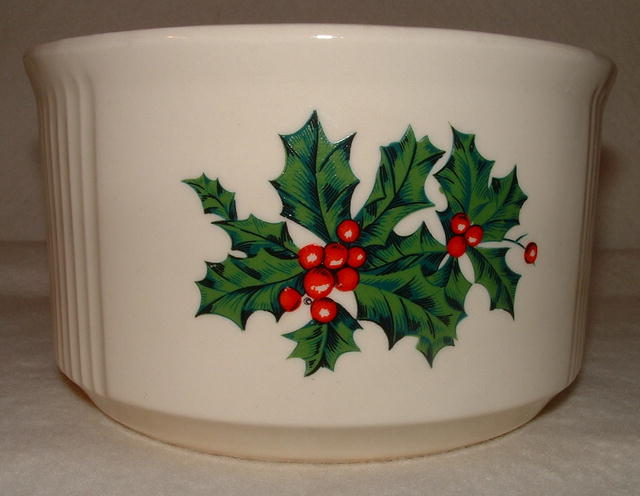 Vintage 1980 FTDA Pottery Christmas / Holiday Crock