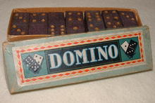 German Wood Domino Set in Box, Circa 1940's