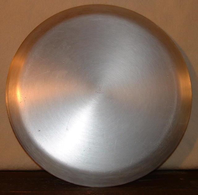 Vintage Kensington Art Deco Round Aluminum Tray