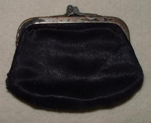 Antique Purple Silk & Satin Change Purse