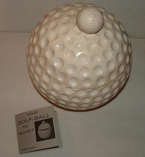 Vintage Golf Ball Ice Bucket