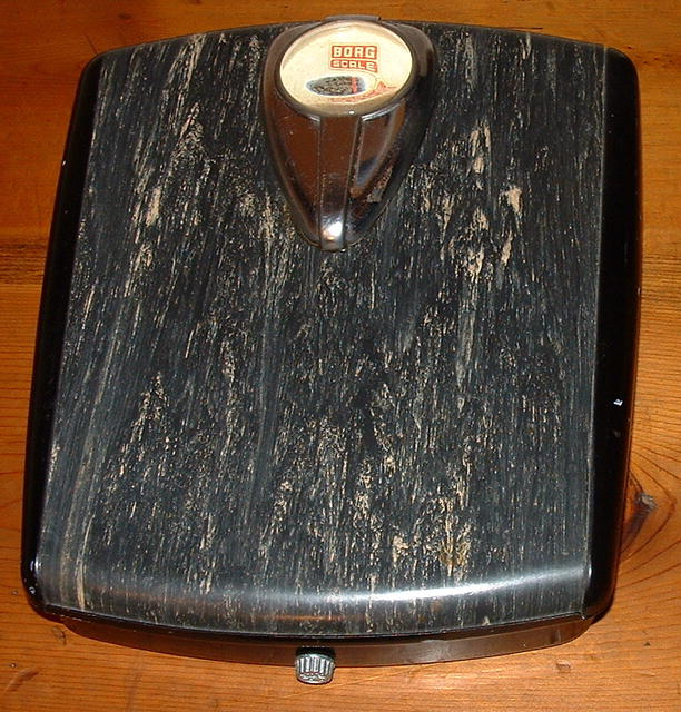 Wonderful Mid-Century Borg Bathroom Scale, Circa 1941