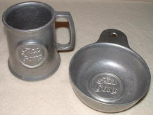 Vintage Wilton Armetale Child's All Gone Mug & Porringer