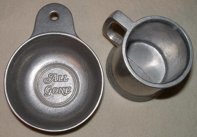 Vintage Wilton Armetale Child's All Gone Mug & Porringer