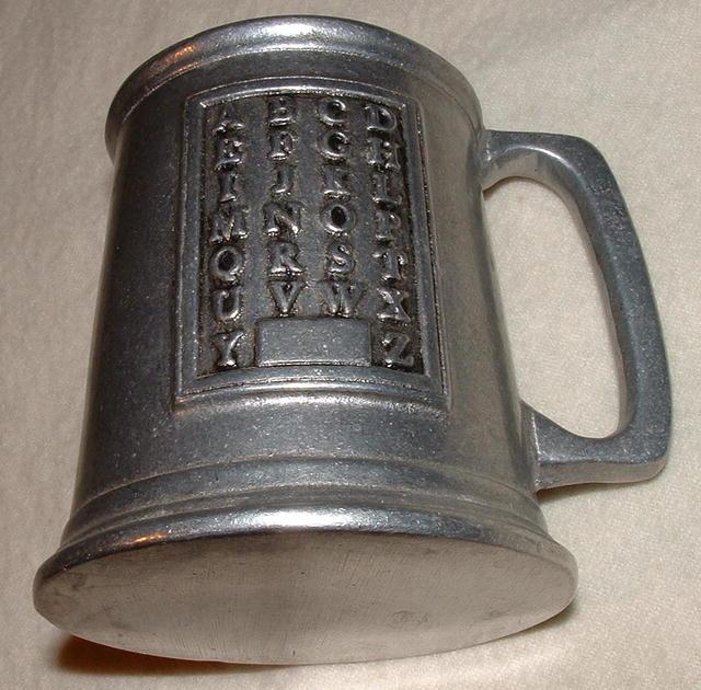 Vintage Wilton Armetale Alphabet Mug