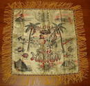 WWII Era / Mid-Century Souvenir Aloha Pillow Cover From Hawaii