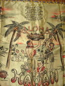 WWII Era / Mid-Century Souvenir Aloha Pillow Cover From Hawaii