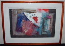 Framed Tom Anderson Abstract Water Color