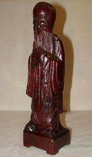 WWII Era / Mid-Century Wood Carving of Asian Holy Man