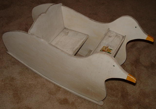 Primitive Hand-Crafted Duck-Shaped Child's Rocker