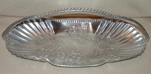 Vintage Hand-Wrought Aluminum Handled Server
