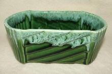 Vintage UPCO Pottery Green Drip Glaze Planter