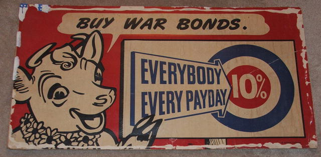 WWII Elsie the Cow Buy War Bonds Poster