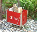 Vintage Ice Pal Ice Fishing Sled / Primitive Piece