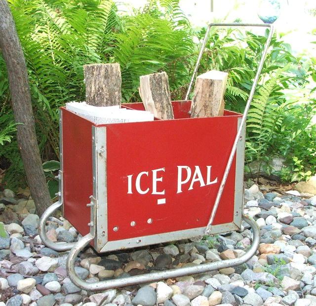 Vintage Ice Pal Ice Fishing Sled / Primitive Piece