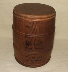 Vintage / Antique Briggs Smoking Tobacco Wood Humidor Keg