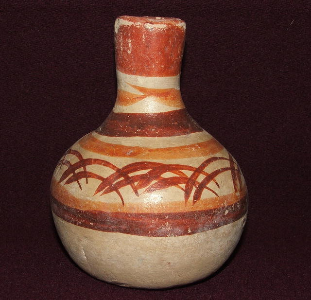 Small Antique Primitive Mexican Pottery Water Jar