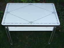 Antique Porcelain Kitchen / Cottage Table with Pull-Out Leaves