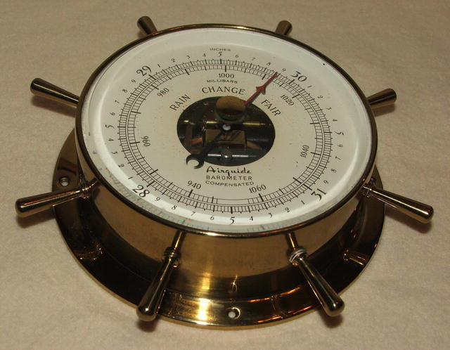 Vintage Airguide Nautical Barometer by Fee & Stemwedel