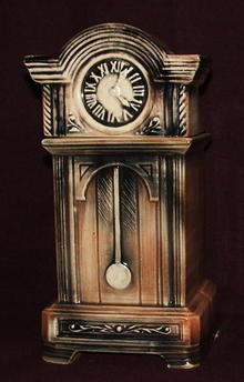 Unusual McCoy Pottery Grandfather Clock Cookie Jar