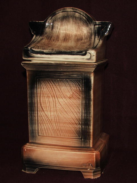 Unusual McCoy Pottery Grandfather Clock Cookie Jar