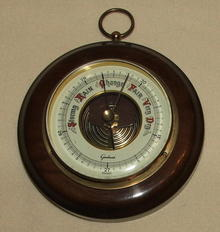 Vintage / Antique German Round Gischard Barometer