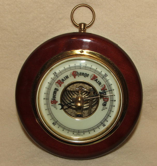 Vintage / Antique Round German Barometer
