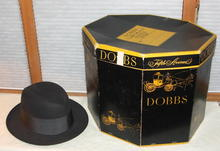 Vintage Dobbs Men's Black Felt 6 3/4 Hat and Box