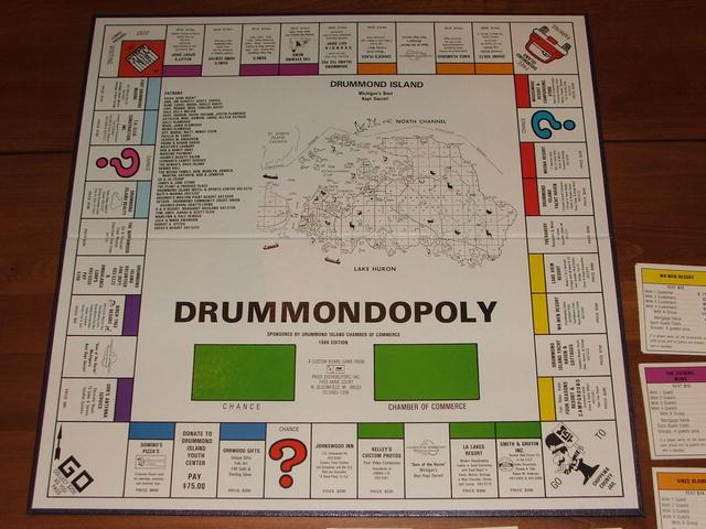 Vintage 1986 Drummond Island Drummondopoly Game