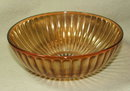 Iridescent Marigold Depression / Carnival Glass Bowl