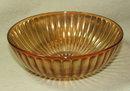 Iridescent Marigold Depression / Carnival Glass Bowl