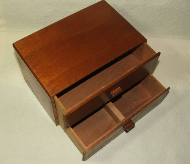 Antique Oak Two Drawer Tampa Cigar Case